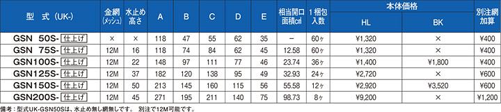 uk-gsn50s,uk-gsn75s,uk-gsn100s,uk-gsn125s,uk-gsn150s,uk-gsn200s,丸型フード付ガラリ